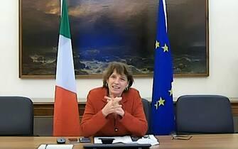 Un frame tratto dal video del neo ministro dell'Università e della ricerca Maria Cristina Messa, Firenze, 17 Gennaio 2021. ANSA/WEB/YOUTUBE