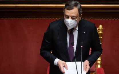 """Doppia gaffe di Mario Draghi al Senato: """"Onorevoli deputati"""". VIDEO"""