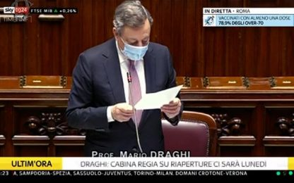 Governo, Draghi oggi a question time. Da coprifuoco a brevetti: i temi