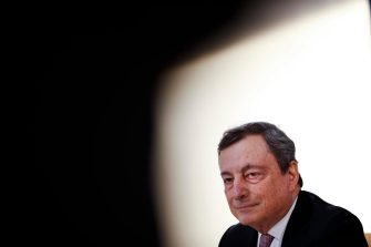 epa09185042 Italy's Prime Minister Mario Draghi speaks during a media conference at an EU summit in Porto, Portugal, 08 May 2021. On 08 May, EU leaders hold an online summit with India s Prime Minister Narendra Modi, covering trade, climate change and help with India s COVID-19 surge.  EPA/Francisco Seco / POOL