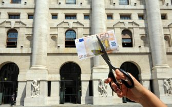 Milan - Crisis of economy and global finance - Business Square - the bag of milano - Devaluation of the euro