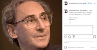 Il post su Instagram dell'ex premier Giuseppe Conte sulla morte di Franco Battiato