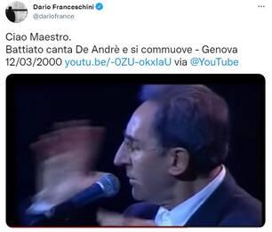 Morto Franco Battiato: da Conte a Salvini, il ricordo dei politici
