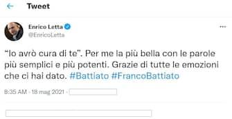 Il ricordo del segretario nazionale del Pd Enrico Letta dopo la morte di Franco Battiato