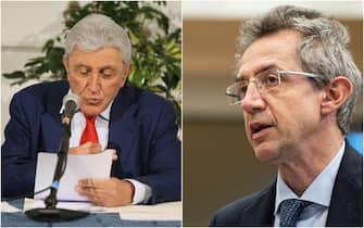 Alfredo Bassolino e Gaetano Manfredi, avversari alle amministrative per la città di Bologna