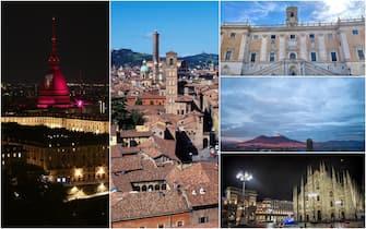 Alcuni dei luoghi più famosi di Milano, Torino, Napoli e Bologna