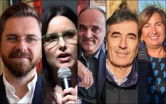 Da sinistra: Matteo Lepore, Isabella Conti, Roberto Mugavero, Fabio Battistini e Ilaria Giorgetti