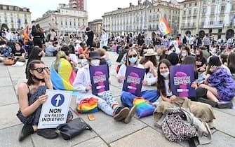 Manifestazione Pride 'Per la legge Zan e molto di più: non un passo indietro', 5 giugno 2021 ANSA/ALESSANDRO DI MARCO