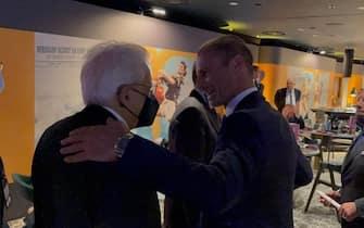 Mattarella con il presidente dell'Uefa, Aleksander Ceferin