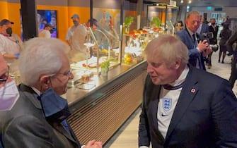 Mattarella e Boris Johnson a Wembley