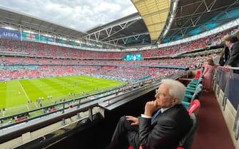 Mattarella allo stadio di Wembley