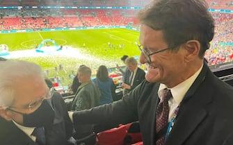 Mattarella e Fabio Capello a Wembley