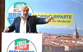 Incontro con Antonio Tajani coordinatore FI a Torino , 10 luglio 2021 ANSA/ALESSANDRO DI MARCO