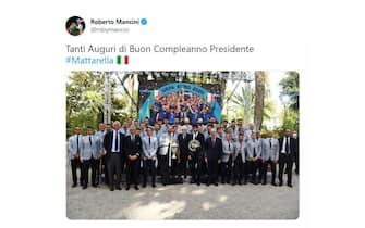 Mattarella 80 anni auguri Roberto Mancini