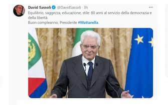 Mattarella 80 anni auguri David Sassoli