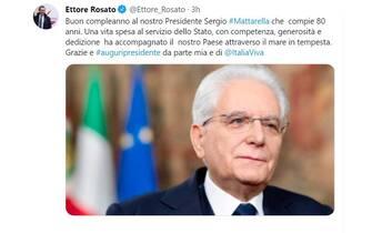 Mattarella 80 anni auguri Ettore Rosato