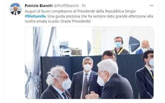 Mattarella 80 anni auguri Patrizio Bianchi