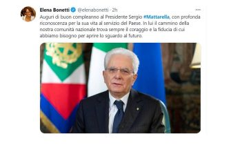 Mattarella 80 anni auguri Elena Bonetti