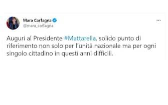 Mattarella 80 anni auguri Mara Carfagna