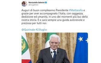Mattarella 80 anni auguri Mariastella Gelmini