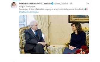 Mattarella 80 anni auguri Maria Elisabetta Casellati