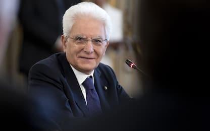 """Mattarella: """"Giovani accettino rischi, Paese ne ha bisogno"""""""