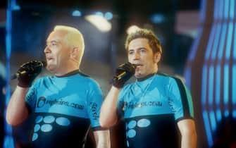 I Righeira - gruppo musicale italiano formato da Michael e Johnson Righeira - veri nomi Stefano Rota e Stefano Righi - fotostory - photostory - retro retrospettive - foto
