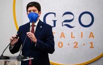 Roberto Speranza, Italian Minister of Health, during the final press conference at the G20 Health MinistersÕ Meeting in RomeÕs Capitol, Italy, 6 September 2021. ANSA/RICCARDO ANTIMIANI