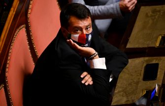 Matteo Salvini, leader of Lega, as Ministers of Foreign Affairs and Defense report to the Senate on the situation in Afghanistan, Rome, Italy, 7 September 2021. ANSA/RICCARDO ANTIMIANI