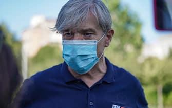 Ivano Verra, candidato sindaco a Torino per Italexit. Torino, 27 agosto 2021 ANSA/JESSICA PASQUALON