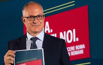 Roberto Gualtieri, candidato del centrosinistra alle elezioni comunali di Roma 2021