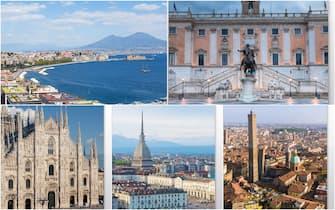 Napoli, Roma, Milano, Torino e Bologna