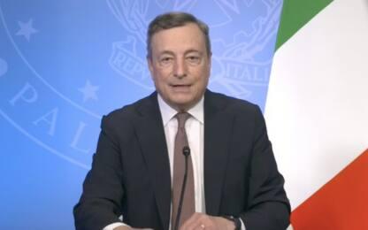"""Covid, Draghi all'Onu: """"Doneremo 45 mln di dosi vaccino entro l'anno"""""""