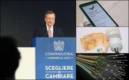 Draghi a Confindustria, green pass e crescita: i punti del discorso