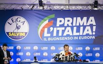 Luca Morisi al fianco di Matteo Salvini