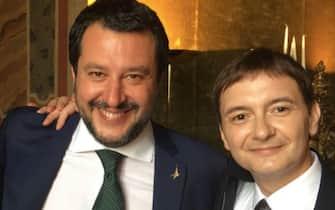 Matteo Salvini e Luca Morisi in una foto postata su Facebook dal leader della Lega