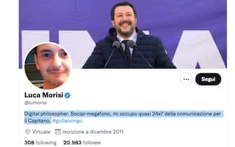 L'account Twitter di Luca Morisi