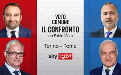 Ballottaggi, su Sky TG24 il confronto tra i candidati di Torino e Roma