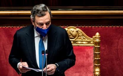 """Draghi: """"Campagna vaccinale italiana più spedita della media Ue"""""""
