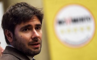 Alessandro Di Battista, Five Stars Movement (M5S) deputy, attends the presentation of the movement's parliamentary candidates for the upcoming March general elections in Rome, Italy on January 29, 2018. (Photo by Giuseppe Ciccia / Pacific Press/Sipa USA)