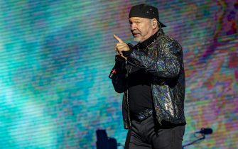 CAGLIARI, ITALY - JUNE 19: Vasco Rossi performs at  on June 19, 2019 in Cagliari, Italy. (Photo by Francesco Prandoni/Getty Images)