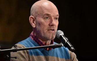 NEW YORK, NEW YORK - NOVEMBER 01: Michael Stipe participates in a conversation with Douglas Coupland and Jonathan Berger at New York Public Library in the Stephen A Schwartzman Building on November 01, 2019 in New York City. (Photo by Steven Ferdman/Getty Images)