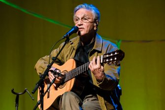 SAO PAULO, BRAZIL - May 25: Caetano Veloso performs live on stage with the tour Ofertorio at Espaco das Americas on May 25, 2018 in Sao Paulo, Brazil.(Photo by Mauricio Santana/Getty Images)
