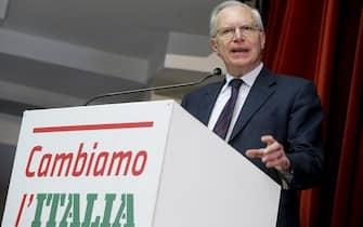 Guglielmo Epifani durante l'Assemblea nazionale di ''Art.1-MdP'', Roma 19 novembre 2017. ANSA/FABIO FRUSTACI
