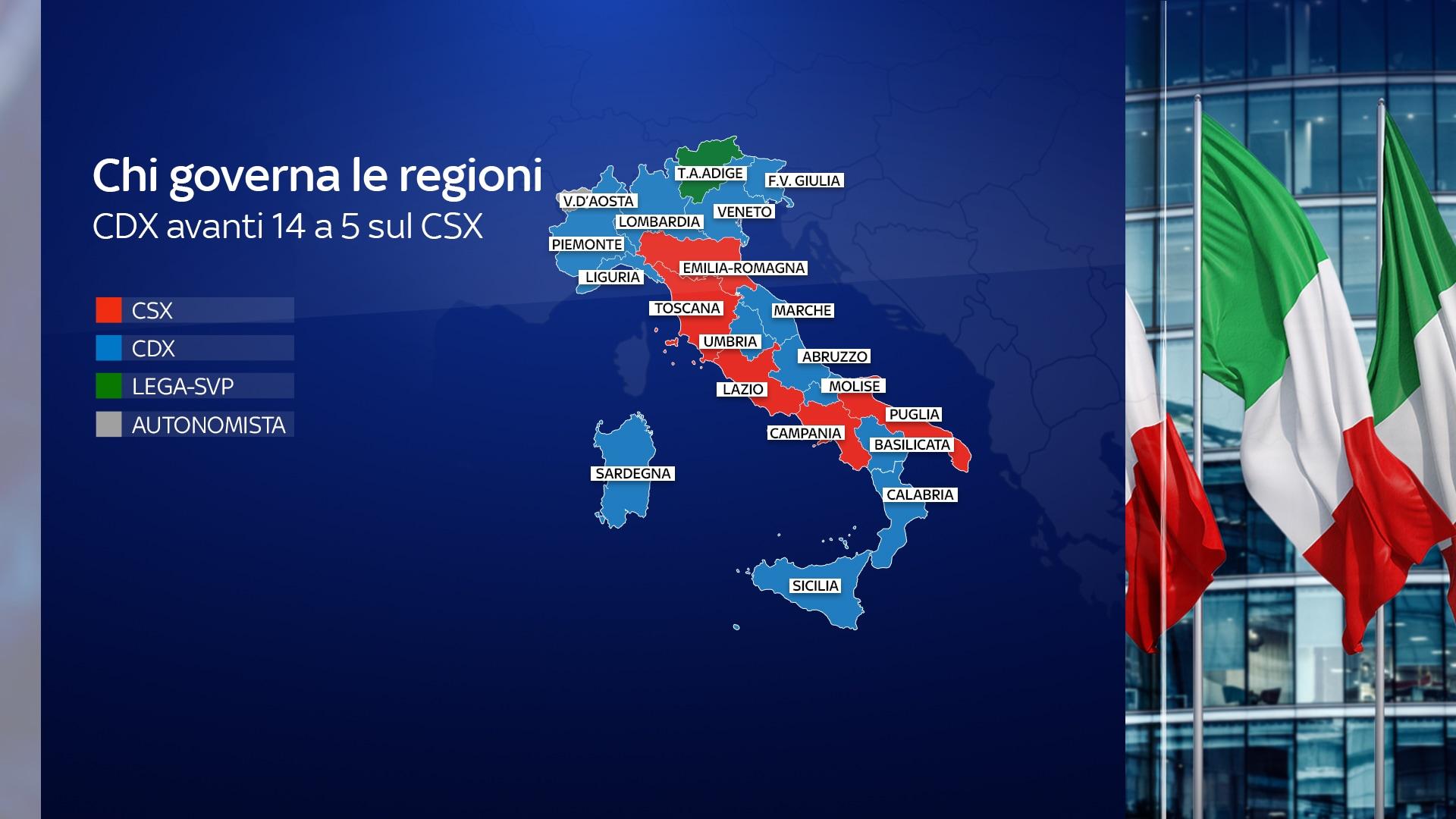 Cartina Cina Con Province.Partiti E Presidenti Delle Regioni Italiane Ecco Chi Governa E Dove Mappa