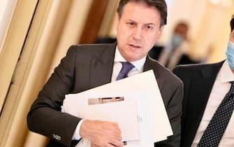 Il premier Giuseppe Conte al lavoro, Roma 27 luglio 2020. ANSA/FILIPPO ATTILI - Ufficio stampa Palazzo Chigi