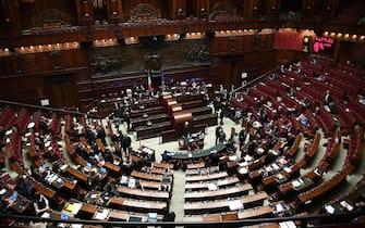 Parlamento in seduta comune nell'Aula di Montecitorio per l'elezione di un giudice della Corte Costituzionale, Roma, 11 gennaio 2017. ANSA/ALESSANDRO DI MEO