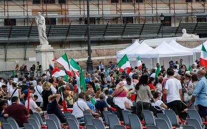 Roma, manifestazione del centrodestra in piazza del Popolo