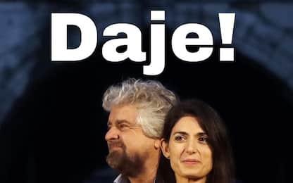 """Roma, endorsement di Beppe Grillo su candidatura Raggi: """"Daje!"""""""