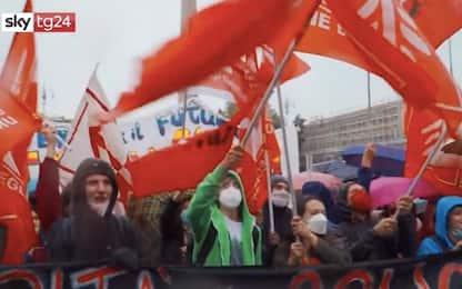 Roma, manifestazione per la scuola in piazza del Popolo. VIDEO